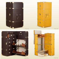 Los exclusivos baúles de viaje Gucci | Guccisima Leather Shoe Trunk y el Diamante Lux Leather Gucci Heritage Travel Trunk
