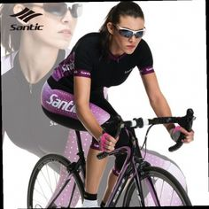 51.98$  Watch here - http://ali9a6.worldwells.pw/go.php?t=32657119339 - SANTIC Summer Cycling Jerseys Kit Sets Womens Short Sleeve Quick Dry Racing Team Bicycle Bike Shorts Clothing Apparel 51.98$