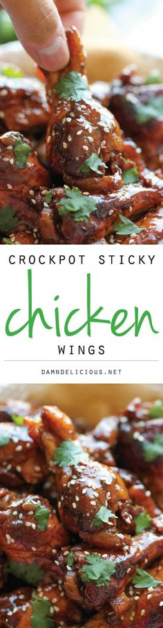 Slow Cooker Sticky Chicken Wings Slow Cooker Sticky Chicken Wings – The easiest wings you will ever make. Just throw everything into the crockpot and you're set! Crock Pot Slow Cooker, Crock Pot Cooking, Slow Cooker Recipes, Cooking Recipes, Crockpot Meals, Cooking Time, Easy Recipes, Sticky Chicken Wings, Good Food