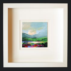 How it could look framed. Original Scott Naismith acrylic landscape painting. £75 unframed