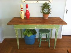 Lucketts Green Desk By D S Cottage And Design Milk Paint Furniture