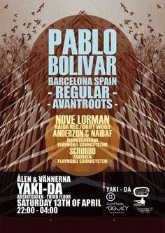 Ålenännerna - PABLO BOLIVAR #posters #poster #yaki-da #concert #music #illustration #event