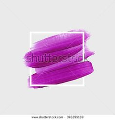 Logo paint template. Original grunge brush paint texture design acrylic stroke…