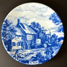 Delft Blue Collectors Plate Chemkefa Holland Delfts Blauw Delftware Pottery Wall Art Hanging