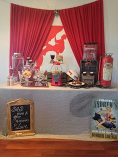 Red Fathers Day Brunch Party Table by Well Planned Weddings and Events