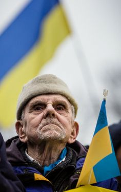 Warsaw 2-3-2014: Demonstration against the Russian invasion of Ukraine.