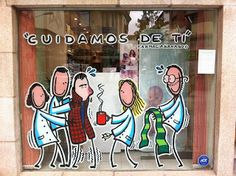 Escaparate de Farmacia Gaspar Naranjo #cuidamosdeti