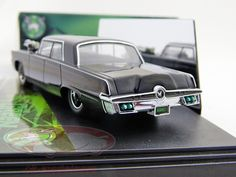 """Hersteller: Vitesse Maßstab: 1:43 Fahrzeug: Chrysler Imperial """"black beauty"""" Serie: Movie: the green hornet Baujahr: 2011 Artikelnummer: 24030 Farbe: schwarz EAN 657440240307"""