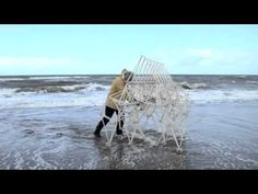 Dutch engineer Theo Jansen builds complex walking sculptures from PVC pipe and…