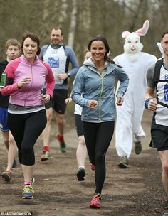 Pippa Middleton showed off her sporty side today as she took part in a charity fundraising run