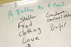 Notes about good parenting taken during a recent Father to Father session. Walter L. Scott once part... - Travis Dove for The New York Times