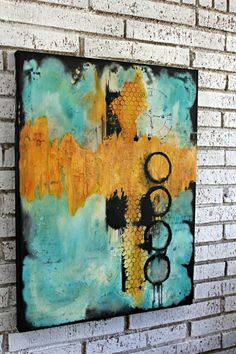 Abstract Painting on Canvas by Crystal Renee. Wall Art Decor