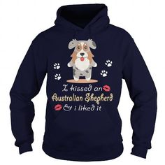 Awesome Australian Shepherd Lovers Tee Shirts Gift for you or your family your friend:  Aussie  Kissed an Australian Shepherd Tee Shirts T-Shirts