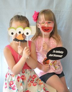 Great Toy Story photo booth props... Potato Head props are a must!