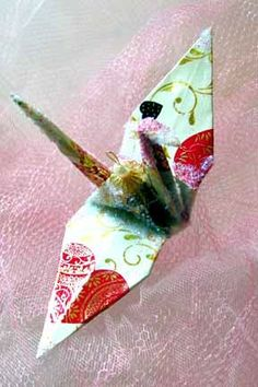 Cyndi Lauper Peace Crane Wedding Cake Topper Party Favor Origami Valentine Ornament by localcolorist, $8.00