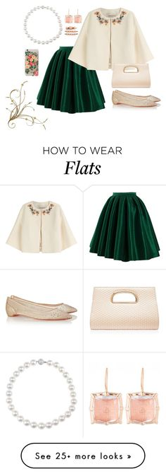 """""""Pretty peachie..."""" by tracie-cress on Polyvore featuring Emilio Pucci, Christian Louboutin, Rifle Paper Co, Forever New, Larkspur & Hawk and Cara"""