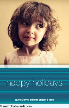 Trimmings Blue Holiday Card Design