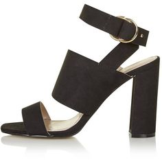 TopShop Monica Block Heel Sandals (155 SAR) ❤ liked on Polyvore featuring shoes, sandals, black, black sandals, topshop sandals, heeled sandals, kohl shoes and topshop shoes