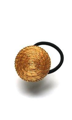 Elastique Mandala Capim dourado  or végétal  headband hair style brazil handcraft fairtrade goldengrass