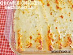 The Country Cook: Creamy Chicken Enchiladas (Plus how to shred your chicken with a stand mixer.)