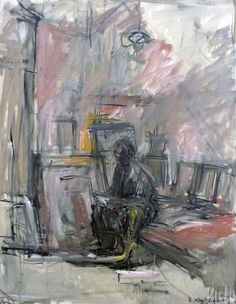 Alberto  Giacometti,  Diego assis lisant le journal, 1952-53