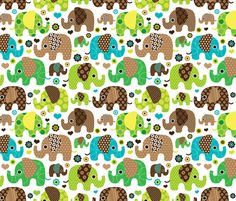 Indian elephant festival fabric design by Little Smilemakers Studio // Maaike Boot - Home decor textile inspiration, fashion and wallpaper