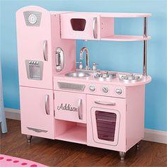 Kid Kraft Personalized Vintage Kitchen- Pink
