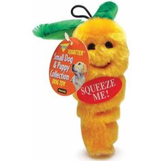 Petmate Doskocil Co. Inc. Carrot Dog Toy, Small, Orange