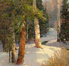"Exquisite Inverno Woods Olio 48 ""x 36""  MAINVIEW GALLERY | Scottsdale, Arizona"