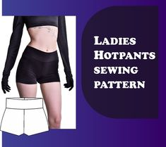 Large Format Printing, Print Format, Easy Sewing Patterns, Pants Pattern, Hot Pants, Visual Kei, Stretch Fabric, Womens Fashion, Ladies Fashion