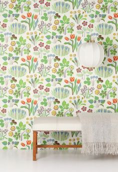 josef frank - such a cheerful wallpaper without being too busy!