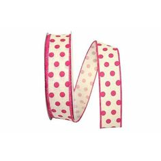 """1.5"""" Fuchsia Dot Country Ribbon (20 Yards) Pink Polka Dots, Outdoor Projects, Sale Items, Yards, Ribbon, Bows, Shapes, Texture, Country"""