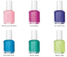 "essie-neons-2015 ""Make Some Noise"", ""Melody Maker"", ""Vibrant Vibes"" , ""Coacha'Bella"" , ""All Acces Pass"" et le ""Grove is in the Heart"""