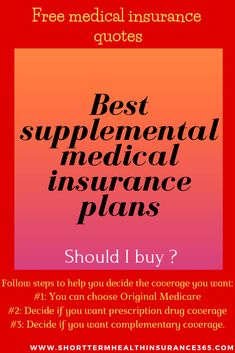 Best plans [Should I buy ?] is an additional insurance that you can buy to help pay for services and out-of-pocket expenses that your regular insurance does not cover. Supplemental Health Insurance, Health Insurance Plans, Insurance Quotes, Group Life Insurance, Life Insurance Companies, Affordable Health Insurance, Health Questions, Medical History