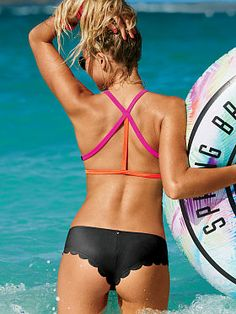 Shop PINK swim sale and dive into deals on bikini tops, bottoms and one-piece swimsuits. Save on all your fave swimwear styles now at PINK! Mini Bikini, Bikini Beach, Bikini Swimwear, Sexy Bikini, Bikini Top, Bikini Bottoms, Pink Swim, Underwear, Cute Swimsuits
