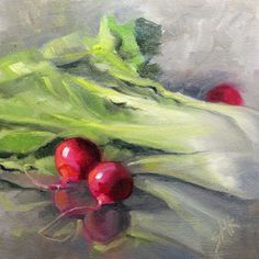 """""""Stealing the Show"""" 6x6 oil on cradled panel Day 19 in the 30 in 30 Challenge by Leslie Saeta"""
