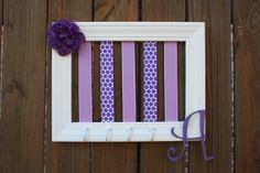 Bow Holder - Purple & Lavender