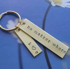 long distance relationship for girlfriend Long distance friendship Gift Long distance from Boyfriend Gift No Matter Where Keychain Present by ScriptedSplendor on Etsy https://www.etsy.com/listing/466475015/long-distance-relationship-for
