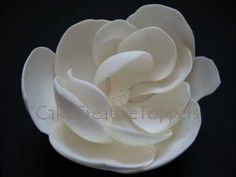 How to make Magnolia Flower? Easy without cutter. - YouTube
