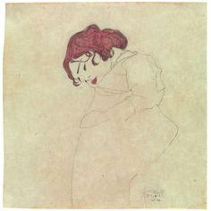 Egon Schiele - Sleeping Girl, 1909