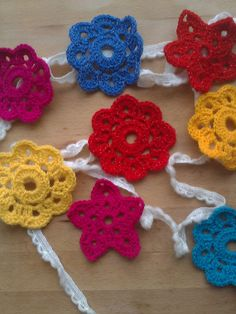 Crochet Bunting, Star and Flower Crochet Bunting