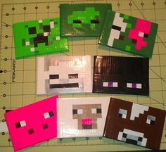 Minecraft Sheep Duct Tape Wallet by FlairDesignPlatypus on Etsy, $8.00