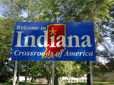 "Indiana's nickname, ""The Crossroads of America,"" is a reference to the fact that several major interstate roads passed through the state. And thus, it ended up on its highway signs."