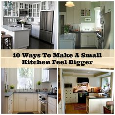 10 ways to make a small kitchen appear bigger. small kitchen tips