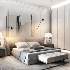 30 Minimalist Bedroom Decor Ideas that are Not Too much but Just Enough - Hike n. - - decorideas 30 Minimalist Bedroom Decor Ideas that are Not Too much but Just Enough - Hike n Dip. Modern Minimalist Bedroom, Minimal Bedroom, Modern Bedroom Design, Contemporary Interior Design, Contemporary Bedroom, Minimalist Style, Bedroom Designs, Modern Design, Bedroom Classic