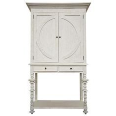 Noir Ferret White Wash Wine Cabinet @Layla Grayce
