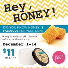 Hey, Honey! hand crème on sale for $11 through December 14th! Get it here: www.perfectlyposh.com/4611 #heyhoney #freeshipping #poshmayhem #winnersworktheweekend