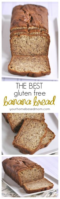 The Best gluten free banana bread recipe you will every try! No one will know it's gluten free. Dairy Free Cookies, Gluten Free Chocolate Chip Cookies, Gluten Free Sweets, Gluten Free Cooking, Dairy Free Recipes, Chocolate Muffins, Chocolate Chips, Banana Bread Recipes, Best Gluten Free Banana Bread Recipe