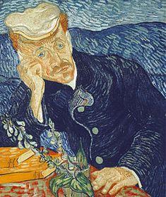 Melancholy Painting - Portrait Of Dr Gachet by Vincent Van Gogh