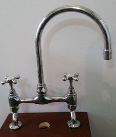 Bon Barber Wilsons Kitchen Bridge Faucet Polished Chrome With Cross Handles  #BarberWilsons 499.00